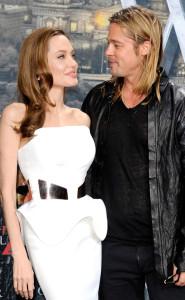 Brad Pitt and Angelina Jolie Luca Teuchmann/WireImage