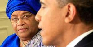 President Ellen Johnson Sirleaf And President Obama