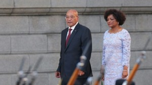Zuma L and National Assembly speaker Baleka Mbete R arrive for the President's State of the Nation Address on February 11, 2016 in Cape Town, South Africa From AFP
