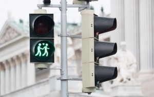 gay themed pedestrian traffic lights From Gallo Images/Thinkstock
