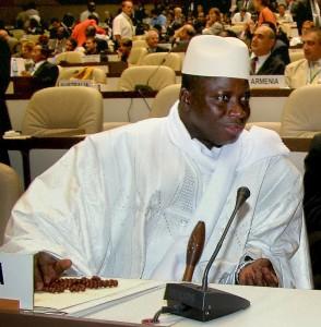 The Gambian President Yahya Jammeh