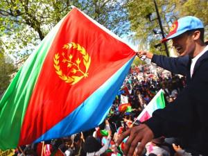 Eritrean Demonstrator in London,England