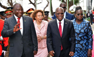 South African President Cyril Ramaphosa and Tanzanian President John Magufuli Photo Credit: S. Africa Government News Agency